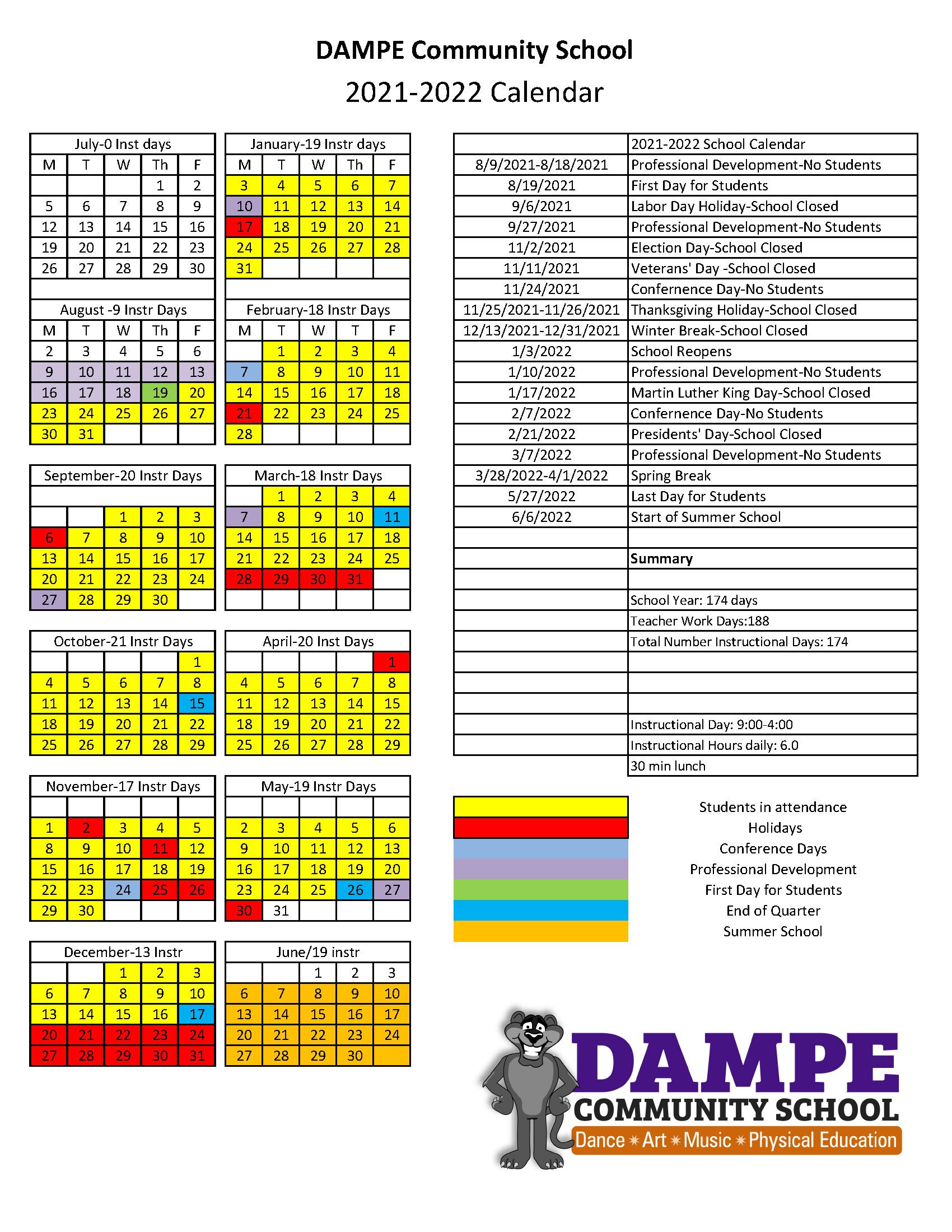 DAMPE School Calendar 2021_2022 copy